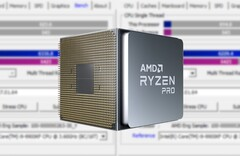 The Ryzen 7 PRO 5750G will sport AMD's business-oriented PRO technologies and enhanced security features. (Image source: AMD/CPU-Z - edited)