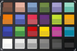 ColorChecker: The reference colour is displayed in the lower half of each area of colour