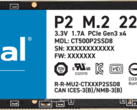 The entry-level Crucial P2 delivers over 3000 MB/s of performance at a low price point (Image source: Storage Review)