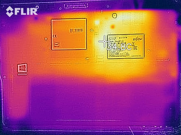 Heat map while idle - bottom