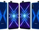 The Honor 9x shown with a rear-facing fingerprint. (Source: Twitter)