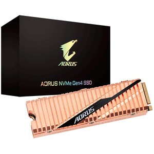 The full-body copper heatsink on the Aorus SSD provides improved cooling. (Source: Gigabyte)