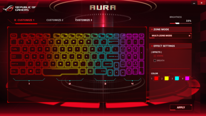 The Asus Aura software...