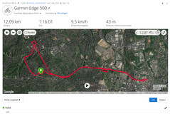 Garmin Edge 500: overall route