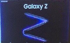 A closer look at the poster of the Samsung Galaxy Z. (Image source: Weibo via GSMArena)