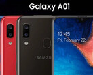 More evidence of a new Galaxy A01 variant emerges. (Source: Samsung)
