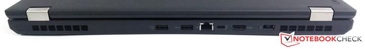 Phía sau: 2x USB 3.0 (1x Luôn bật), Gigabit Ethernet, USB 3.1 Loại C (Sáng thế 2) / Thunderbolt 3, HDMI 1.4b, nguồn