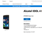 Windows Store listing for the German version of the Idol 4 Pro. (Source: AAWP)