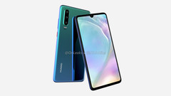 Renders of the Huawei P30. (Source; Onleaks and 91Mobiles)