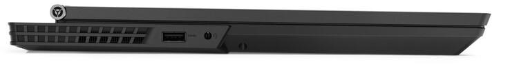 Phía bên tay trái: USB 3.1 Gen 1 Type-A, giắc cắm 3,5 mm