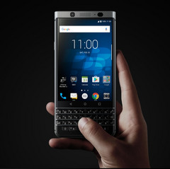 The KEYone marks a radical departure from current smartphone trends with its physical keyboard. (Source: BlackBerry)