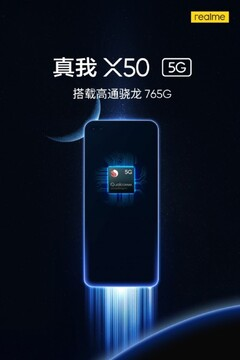 Realme X50 5G teaser reveals it will be powered by the new Snapdragon 765G. (Source: Indiashopps)