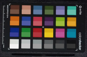 ColorChecker: The target color is in the lower half of each patch