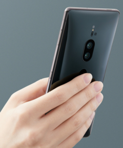 You will need a strong hand to hold the Xperia XZ2 Premium. (Source: Sony)