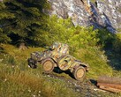 World of Tanks 1.4 now live with wheeled vehicles added to the French tree, AMD 178B tier 6