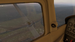 X-Plane 11 Cessna 172SP window reflections. (Source: Own)