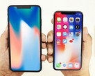 iPhone X Plus dummy model alongside an iPhone X. (Source: @venyageskin1 via MacRumors)