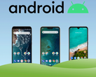 The Xiaomi Mi A3, Mi A2 and Mi A2 Lite edge towards Android 10 update. (Image source: own)