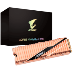 The unique copper heatsink ensures 14% lower temperatures. (Source: Aorus)