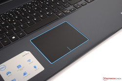 Touchpad of the Dell G3 17 3779