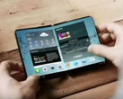 A Samsung foldable smartphone concept. (Source: Samsung)