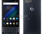 Leaked press render of BlackBerry KEY2 LE in blue (Source: Nieuwemobiel)