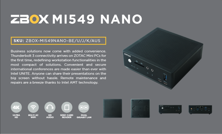 The MI549 Nano is actively cooled. (Source: ZOTAC)