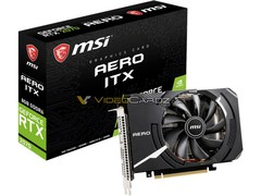 The MSI RTX 2070 Aero ITX card is mostly a vanilla RTX 2070 SKU with a few connectors missing. (Source: VideoCarz)