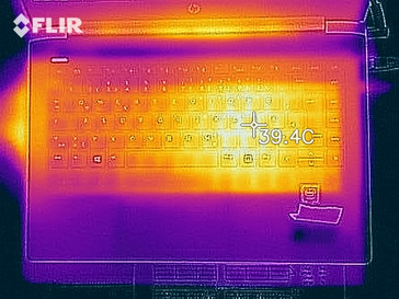 Thermal imaging of the top of the device under load