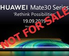 Multiple insiders have reported that Huawei will not sell the Mate 30 series in Central Europe. (Image source: Huawei)
