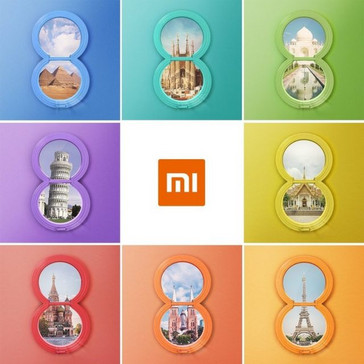 Poster showing Xiaomi Mi 8's worldwide availability. (Source: MySmartPrice)