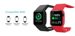 The Batfree strap boosts battery life for the Apple Watch. (Source: Togvu)