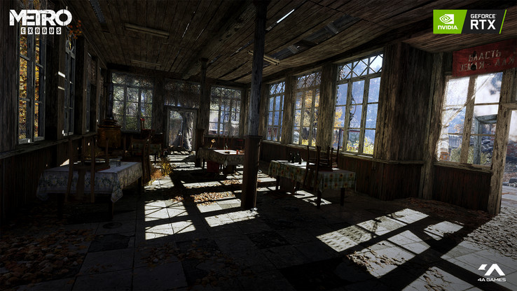 Metro Exodus features raytracing powered by DXR and NVIDIA RTX. (Source: Microsoft)