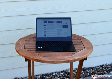 the Asus ZenBook Flip S in shade