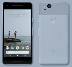 The 5-inch Pixel 2 has no headphone jack, no wireless charging and large bezels. (Source: Google)