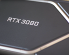 The RTX 3080 Founders Edition with its upside-down 8. (Image source: Digital Foundry)