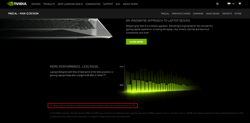 "Nvidia does not detail the setup, the notebook power settings, the game, the testing length, or anything else other than the vague ""25 cm distance"" and ""typical gaming load"""