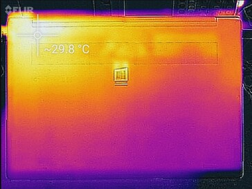 Thermal profile, idle (underside)