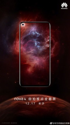 The Huawei Nova 4 is to be launched on December 17. (Source: Huawei/Weibo)