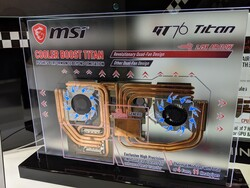 The MSI GT76's heat spreader has more fin surface area and additional fans
