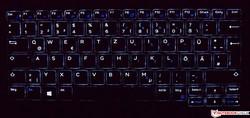 Bàn phím của Dell Latitude 7285 (được chiếu sáng)