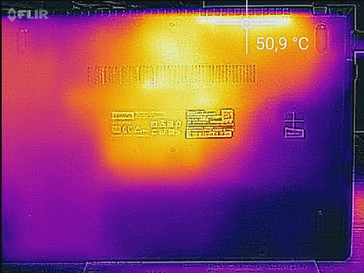 Temperature development underside (load)
