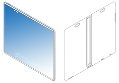 An image form the latest 'OPPO foldable phone' patent. (Source: MobielKopen)