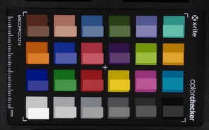ColorChecker: The reference colors are located in the bottom half of each square.