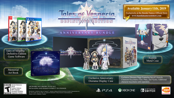 Remastered Tales of Vesperia: Definitive Edition Anniversary Bundle (Source: BANDAI NAMCO)