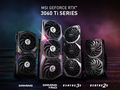 These RTX 3060 Ti cards by MSI may soon be joined MINER-branded SKUs. (Image source: MSI)