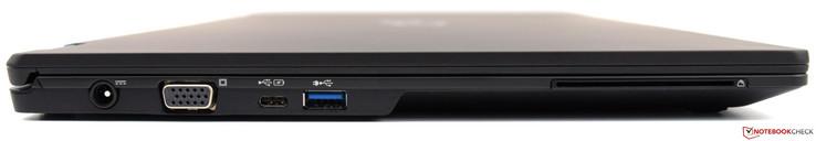 left: power supply, VGA, USB 3.0 Type-C Gen1, USB 3.0 Type-A, smart card reader