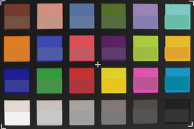 ColorChecker: The original color is displayed in the bottom half of each field.