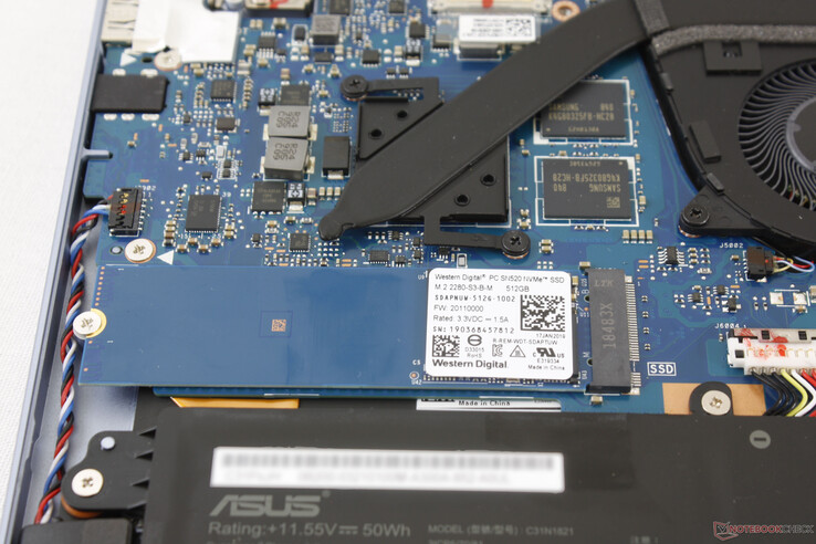 M.2 SSD sits adjacent to the GDDR5 VRAM modules