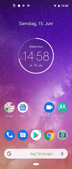 Moto One Vision home screen